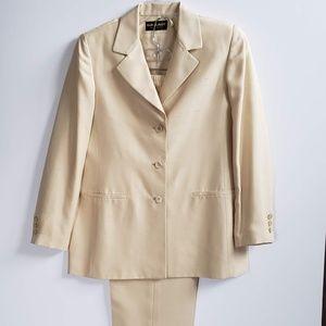 Vintage Gallant Silk Suit Size 12 Jacket & Pants